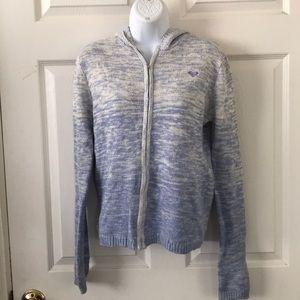 Roxy Blue Ombré Hoodie Jacket